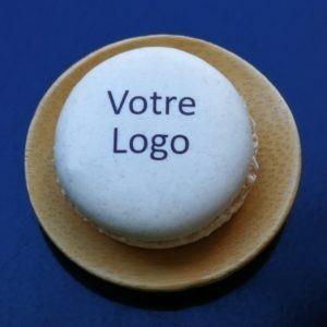 macaron personnalisé avec logo
